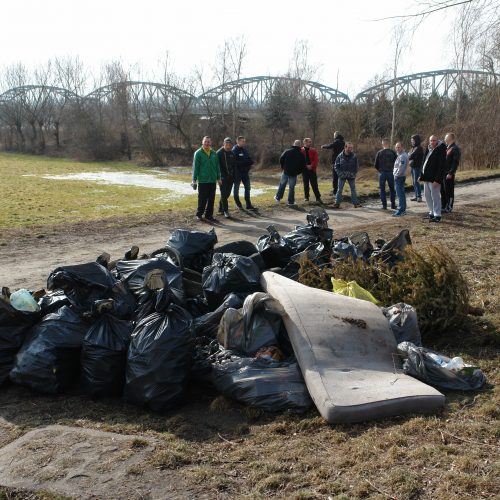 Zebrane śmieci z okolic Frycza-Modrzewskeigo